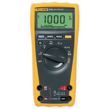 Fluke 77-IV Digital Multimeter <br /> Versatile multimeter for field service or bench repair<br /> The 77-IV digital multimeter has the features needed to repair most electrical and electronic problems. This meter is simple to use and has significant improvements ove