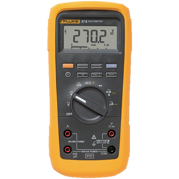 Fluke 27-II Digital Multimeter <br /> Rugged IP67 Industrial Multimeters<br /> The Fluke 27 II and 28 II digital multimeters define a new standard for operating in harsh conditions with the features and accuracy to troubleshoot most electrical problems. Both meters h