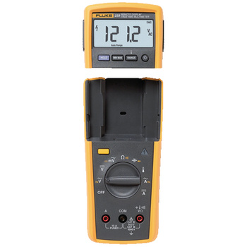 Fluke 233 Digital Multimeter <br /> Ultimate flexibility with removable display<br /> Fluke 233 remote display digital multimeter allows you to be in two places at once. The removable display solves the problems of holding both the meter and the test leads to make a