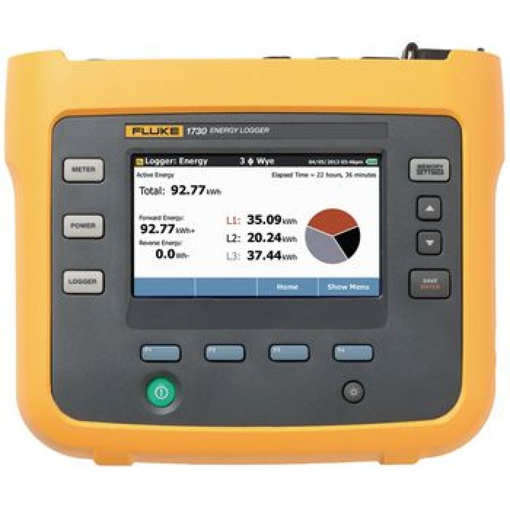 Three-Phase Electrical Energy logger a simple way to discover sources of electrical energy waste<br /> Discover when and where energy is being consumed and identify opportunities for energy savings<br /> Bright 4.3&quot; color touch screen<br /> Measurements for voltage, curren