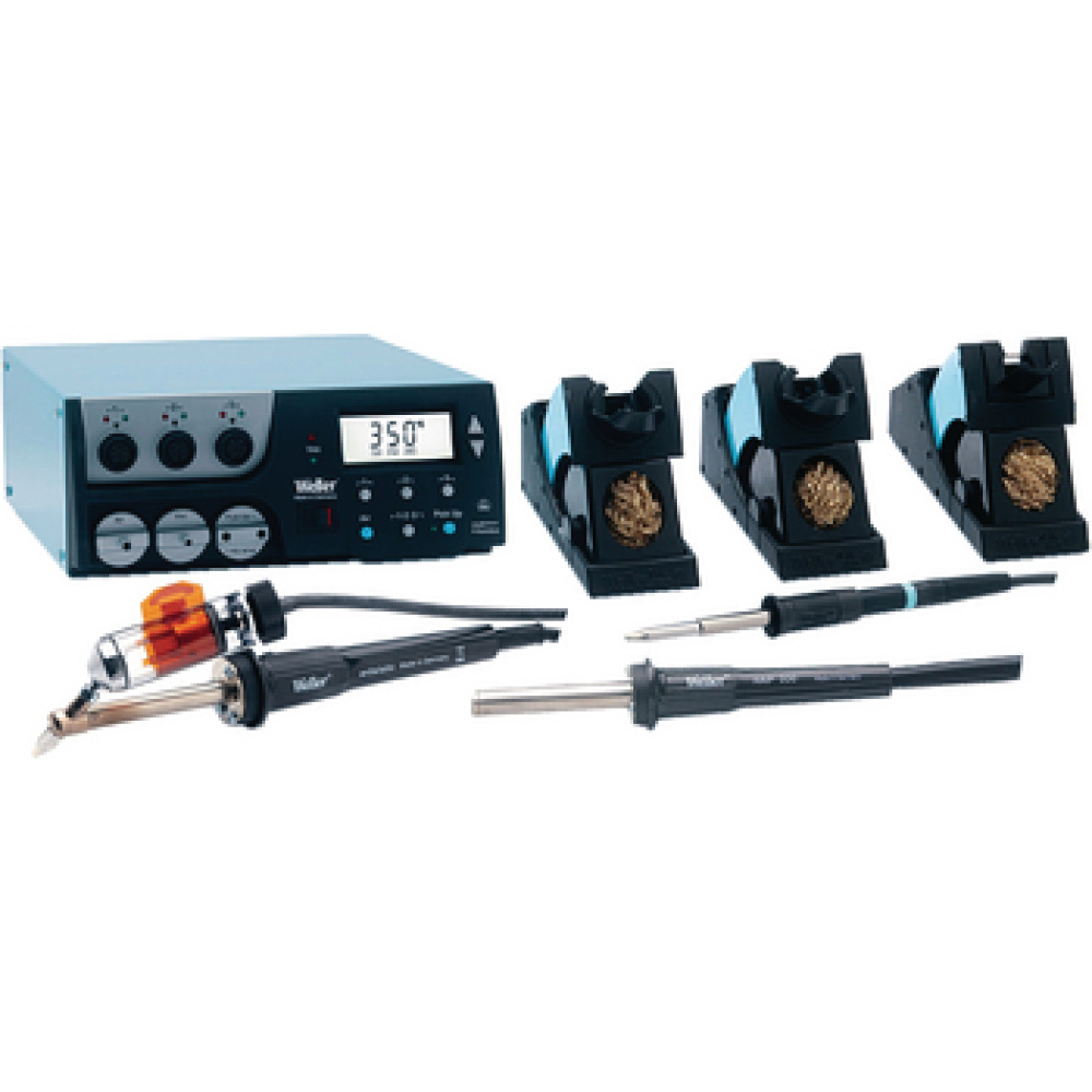 Desoldering unit, multi-digital with built-in pump, 3 channels, automatic tool detection<br /> Hot air soldering iron, soldering iron and desoldering iron<br /> Large LCD display<br /> Separate vacuum channel for pick-up<br /> USB interface<br /> Comprehensive PC software<br /> All  high-sp