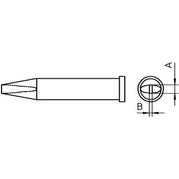 Soldeerstift Beitelvormig 2.4 mm