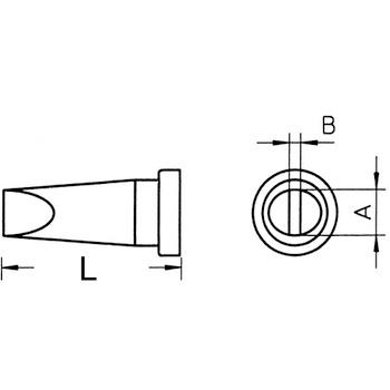 Soldeerstift Beitelvormig 4.6 mm