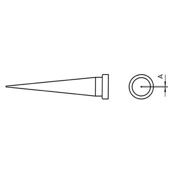 Weller soldering tip for WSP 80, WSP 80IG, WSP 80FE, FE 75 and MPR 80<br /> <br /> Model: LT 1L<br /> Description: Conical Long<br /> Width: 0.2mm<br /> 005 44 423 11