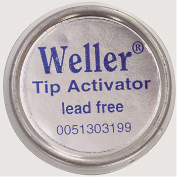 The Weller Tip-Actiavtor for regeneration of oxidized tips works fast and easy with low temperature. The Tip-Activator is environmentally safe and contains no halides, lead, rosin or residue. Regular use will prolong the life of the tips.