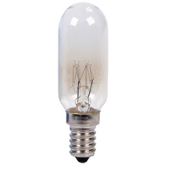 25-W afzuigkap lamp met een gemiddelde brandtijd van 1 000 uur. Werkt op een spanning van 220 - 240 V, een E14 fitting en een T25L lamp.
