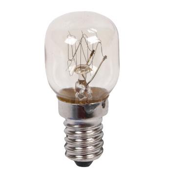 15 W reservelamp voor oven met E14-fitting. Gemiddelde brandtijd: <br /> 1 000 uur.