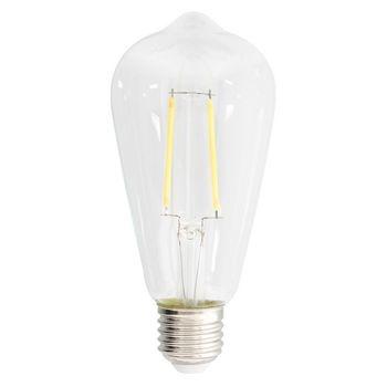 Retro ST64-vormige filament LED-lamp en E27-fitting, 470 lumen en een zeer laag energieverbruik van 4.4 watt, ter vervanging van de traditionele 40-watt gloeilampen en voor directe energiebesparing. Deze lamp bespaart zelfs meer energie dan traditionele L