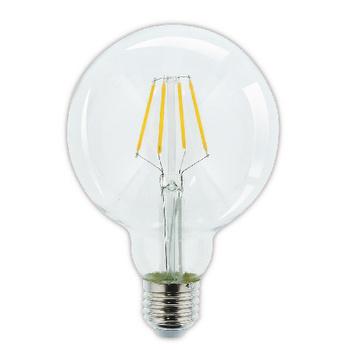 Creëer een warme en aantrekkelijke sfeer in uw woning door traditionele gloeilampen te vervangen met deze filament LED-lamp. De lamp is tevens zeer energiezuinig, zodat u direct op uw elektriciteitskosten bespaart.