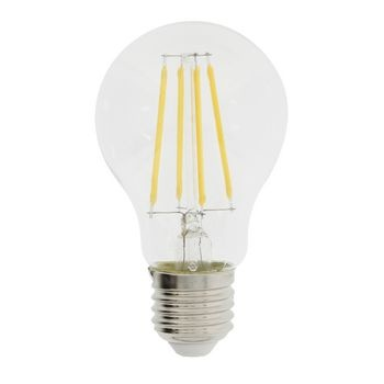 A60-shaped retro filament LED lamp with E27 cap, 806 lumen and a very low power consumption of 8.3 watts to replace traditional 60-watt incadescent lamps and gain immediate energy savings. It even saves more energy than traditional LED lamps. It spreads a