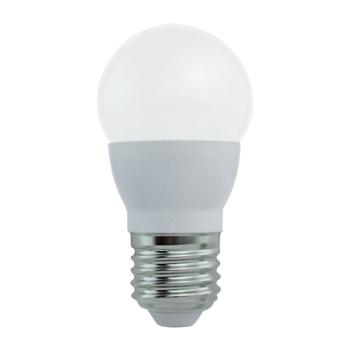 Mini-globevormige LED-lamp met E27-kap, 250 lumen en een zeer laag energieverbruik van 3,4 watt, ter vervanging van de traditionele 25-watt gloeilampen en voor directe energiebesparing. <br /> De lamp verspreidt een warm wit licht met een kleurtemperatuur van 2