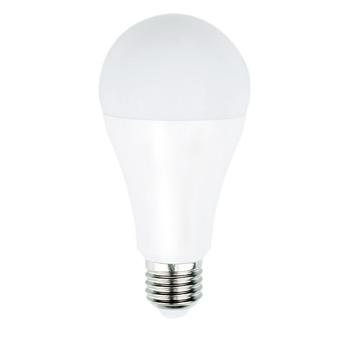 A60-vormige LED-lamp met E27-kap, 1 055 lumen en een zeer laag energieverbruik van 9,8 watt, ter vervanging van de traditionele 75-watt gloeilampen en voor directe energiebesparing. <br /> De lamp verspreidt een warm wit licht met een kleurtemperatuur van 2 700