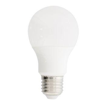 A60-vormige LED-lamp met E27-fitting, 806 lumen en een zeer laag energieverbruik van 9.5 watt, ter vervanging van traditionele 60-watt gloeilampen en voor directe energiebesparing. <br /> De lamp verspreidt een warm wit licht met een kleurtemperatuur van 2700 K