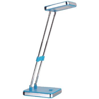 De Ranex bureaulamp Kaat blauw is een goede aanvulling voor op je bureau. De lamp is gemaakt van metaal en plastic en heeft een blauwe kleur, dit geeft de lamp een leuke uitstraling. Zo vrolijkt deze lamp iedere werkkamer op en geeft het voldoende licht o