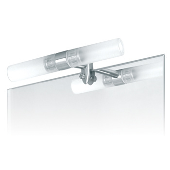 Spiegellamp Geborsteld Staal