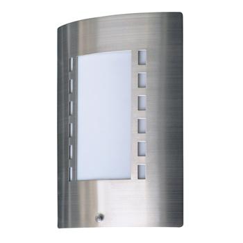 Type: Messina<br /> Muurlamp met gebogen oppervlak en dag / nacht sensor ingebouwd.