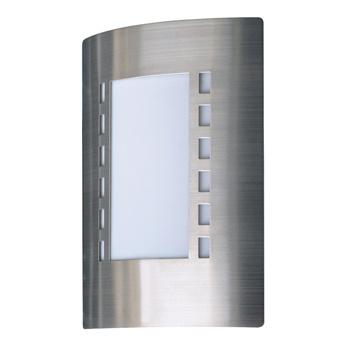 Wandlamp Buiten 60 W Geborsteld Staal