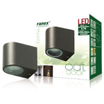 Ranex LED Wandlamp voor Buiten 2.4 W 230 lm Donkergrijs