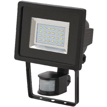 SMD-LED-lamp L DN 2405 PIR IP 44. Led-lamp met uiterst heldere SMD-leds. Voor montage binnen en buiten, IP 44. Ideaal voor de automatische verlichting van ingangen, opritten of carports, alsook voor ter afschrikking tegen inbraak en diefstal. Bereik: 12 m