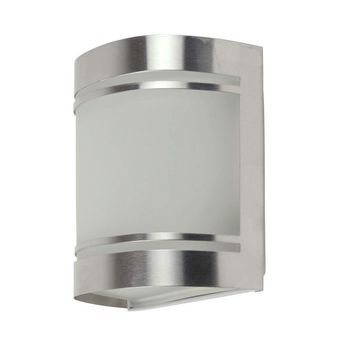 This outdoor wall light is made of stainless steel with glossy<br /> finish. The attractively garden light is timeless because of his<br /> simplistic and yet modern design. Easy wall mounting.