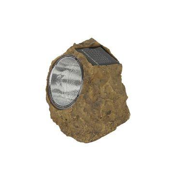 Type: Naxos<br /> Door solar gestuurde LED lamp in vorm van een steen gemaakt van plastic.