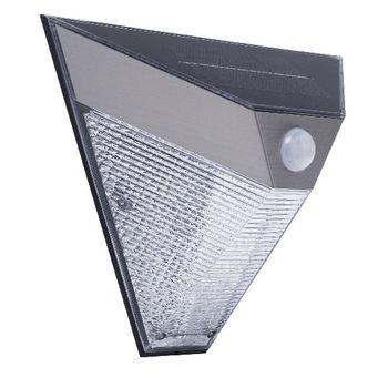 Smartwares 5000.703 Wandlamp – Zonne-energie – Bewegingsdetector <br /> Verlicht je tuin met de kracht van de zon met de Smartwares 5000.703 Wandlamp. De driehoekige lamp is voorzien van een zonnepaneel en bewegingssensor waardoor de lamp geen elektriciteit ver