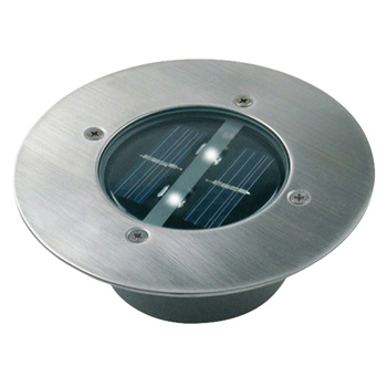 Met deze ronde LED-grondspot van 2 x 0,06 watt op zonne-energie in geborsteld roestvrij staal wordt elke tuin sfeervol verlicht.<br /> <br /> De grondspot verspreidt een aangenaam licht. De installatie vindt draadloos plaats en oplaadbare batterijen worden bijgelever