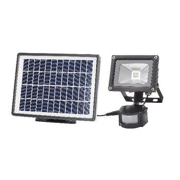 Smartwares SFL-180-MS Buitenlamp met bewegingssensor – Zonne-energie – Natuurlijk wit licht – Los zonnepaneel <br /> Geef je huis een stukje extra beveiliging met de Smartwares SFL-180-MS Buitenlamp op zonne-energie. De lamp met helder licht springt automatisch