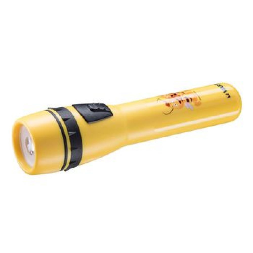 • Robuuste behuizing gemaakt van duurzaam ABS plastic<br /> • 5mm cool white LED<br /> • Met aan/uit schuifschakelaar <br /> • onbreekbare lens<br /> • Vergrootglaslens voor lange lichtbundel