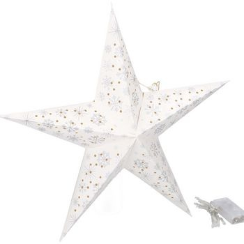 Christmas Paper star with 10 LED<br /> <br /> Exclude 2xAA batteries.