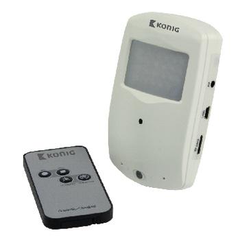 Compacte camera voor het discreet beveiligen van bezittingen. De camera beschikt over een unieke technologie die de camera ingeschakeld houdt en begint met opnemen drie seconden voordat er een beweging wordt gedetecteerd, waardoor elke cruciale situatie k