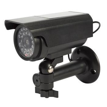 Deze König dummycamera voor buiten zorgt voor inbraakpreventie tegen een fractie van de kosten van een echte camera. Het professionele design heeft een ingebouwde, knipperende LED. Hierdoor is het bijna onmogelijk om de dummycamera van echt te onderscheid