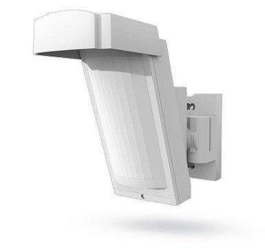 O detector PIR externo sem fio Jablotron JA-185P oferece detecção estável e precisa em condições externas.