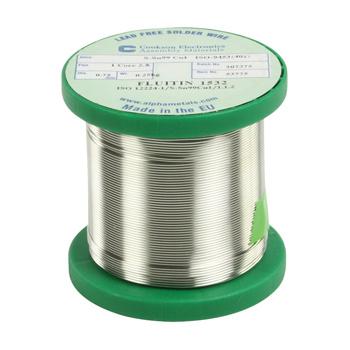 Loodvrije tin 250gram 0.75mm. Samenstelling S-Sn99Cu1. Het smeltpunt voor deze tin ligt tussen de 230 en 240°C. Dit vereist andere soldeerpunten dan men normaal gebruikt bij reguliere tin.