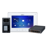 Dahua KIT de interfone de vídeo IP baseado em PoE, com posto avançado de 4 botões