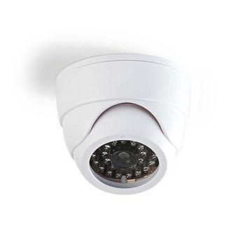 De dummy-camera dome voor binnen helpt om indringers af te schrikken. <br /> Het heeft een professioneel ontwerp met een ingebouwde IR knipperende LED en is eenvoudig te monteren met de meegeleverde beugel.
