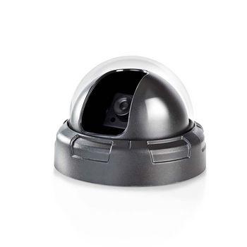 Dummy beveiligingscamera | Dome | IP44 | Zwart