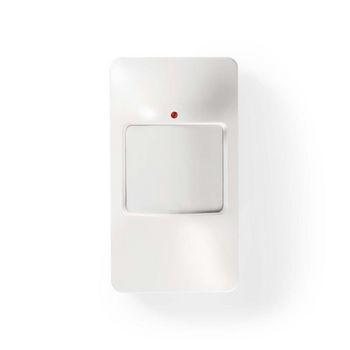 Dummy beveiligingsdetector | ingebouwde, knipperende LED | Wit