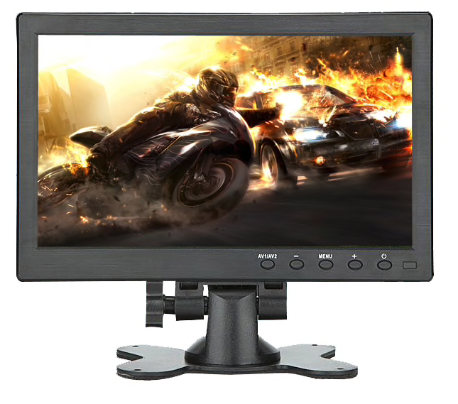 "TFT de 10 ""Full HD monitor de incl. El soporte de montaje en pared"