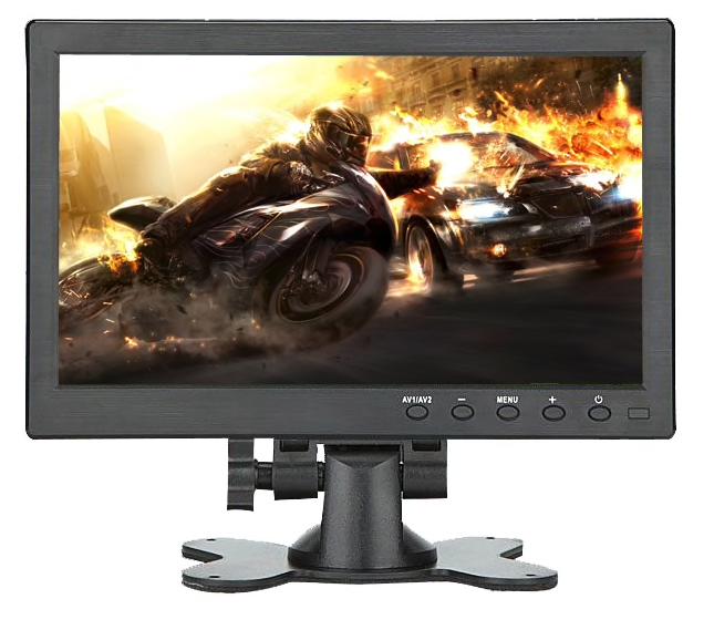 """TFT 10 """"del monitor Full HD incl. Staffa di montaggio a parete. Per il monitor spot con HDMI, VGA, connessione DVI. Schermo con risoluzione Full HD. Alta qualità."""