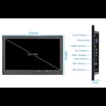 """TFT 10 """"del monitor Full HD incl. Sulla staffa di montaggio a parete"""