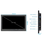 """TFT 10 """"Monitor Full HD incl. No suporte de montagem para parede"""
