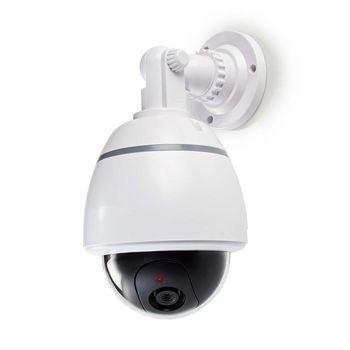 Questa fotocamera fittizia per esterni offre una prevenzione antieffrazione a una frazione del costo di una fotocamera reale. Il design professionale ha un LED lampeggiante incorporato. Ciò rende quasi impossibile distinguere la finta fotocamera dalla rea