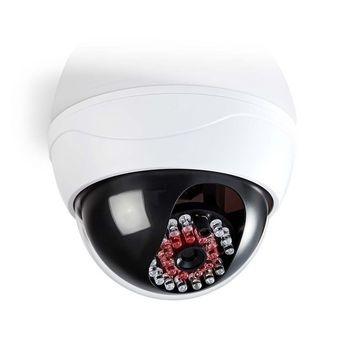 La cámara simulada para exteriores ayuda a disuadir a los intrusos. Tiene un diseño profesional con un LED intermitente incorporado y es fácil de montar con el soporte suministrado.