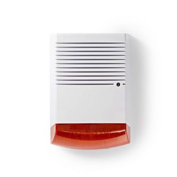 Dummy security siren | IP44 | White / orange