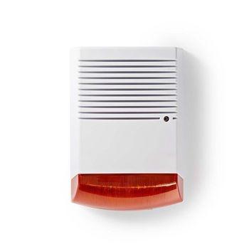 La sirena de alarma simulada al aire libre ayuda a disuadir a los intrusos. Tiene un diseño profesional con un LED intermitente incorporado y es fácil de montar con la etiqueta suministrada.