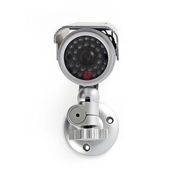 Dummy security camera | Bullet IP44 | Silver