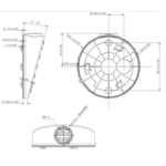 Hikvision DS-1281ZJ-DM27 schuine opbouw