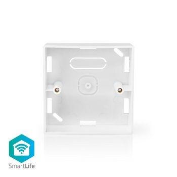 Esta caixa montada na superfície para montagem na parede é adequada para os comutadores inteligentes SmartLife. Possui várias aberturas, para que um cabo sempre tenha passagem fácil. A profundidade é de 35 mm para facilitar a instalação.
