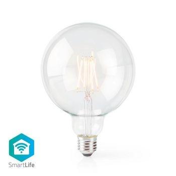 Kombinieren Sie moderne Technologie mit einem klassischen Look. Diese intelligente Glühlampe wird direkt mit Ihrem WLAN- / WLAN-Router verbunden und kann als Teil Ihres Hausautomationssystems ferngesteuert werden. Kombinieren Sie moderne Technologie mit e